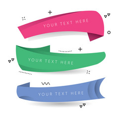 flat promotion ribbon banner vector image