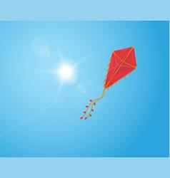 flying kite in sky vector image