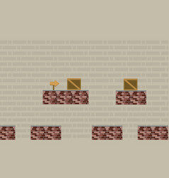 Game background style with wall and box vector