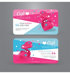 Gift voucher template with gift box vector