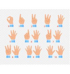 hands in various gestures vector image