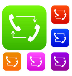 handsets with arrows set collection vector image