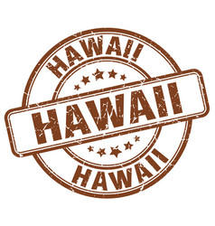 Hawaii brown grunge round vintage rubber stamp vector
