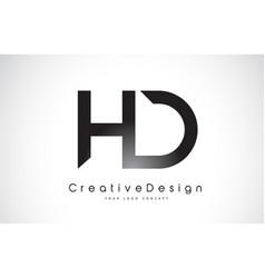 Hd h d letter logo design creative icon modern vector