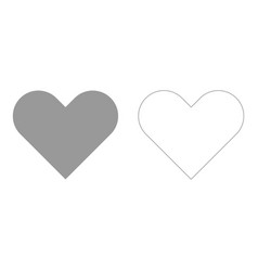 Heart set icon vector