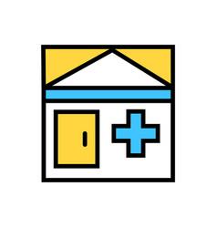 hospital nursing home icon vector image