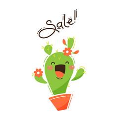 joyful cactus reports a sale vector image