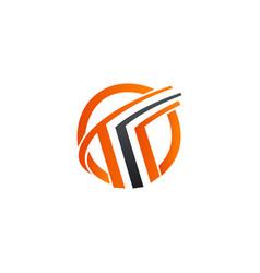 Letter t logo design concept template vector