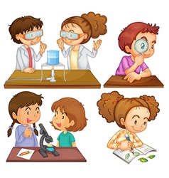 Little scientists vector image