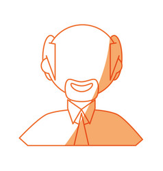 Man faceless profile vector