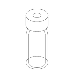 Medical glass bottle icon isometric 3d style vector image