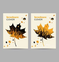 Modern templates for brochure cover in a4 vector