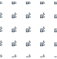 mp player icon pattern seamless white background vector image