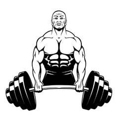 Muscle man bodybuilder vector