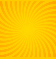 orange sunburst background with radial lines vector image