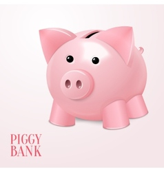 Piggy bank poster vector image