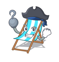 Pirate beach chair character cartoon vector