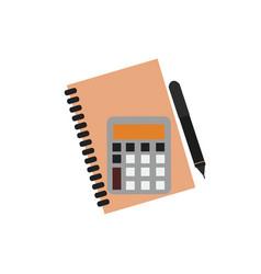 planner notebook mathematics vector image vector image