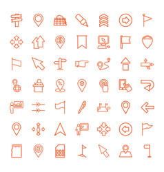 pointer icons vector image