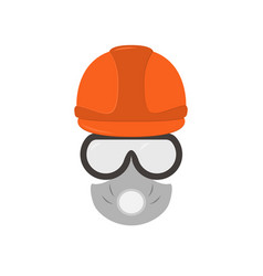 portrait of a man-builder in an equipment a badge vector image