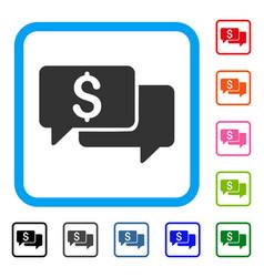 Price bids framed icon vector