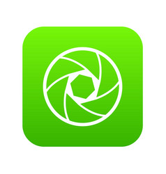 professional objective icon digital green vector image