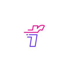R letter dash lowercase tech digital fast quick vector