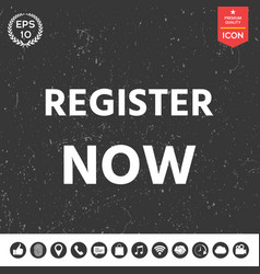 register now button vector image