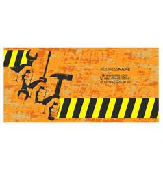 Repair and service handyman business card vector
