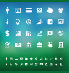 Retina business and finance icon set vector