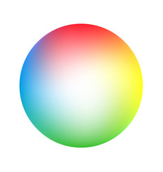 round soft color gradient vector image