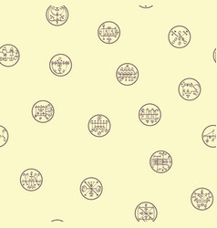 Seamless pattern with symbols demons vector