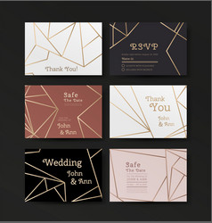 series invitation wedding in art deco style vector image