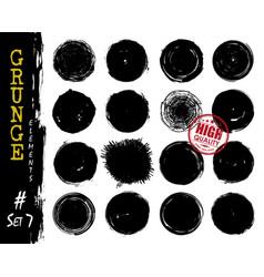 set grunge style circle shapes elements vector image