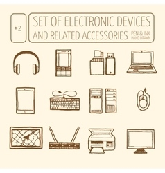 Set of electronic devices vector