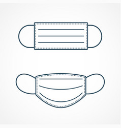 Simple protective medical face mask icon vector