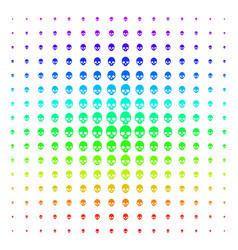 Skull shape halftone spectrum effect vector