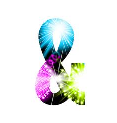 sparkler firework symbol isolated on white vector image
