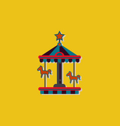 Stock cartoon children fun colorful carousel vector