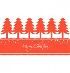 Stylised christmas trees vector