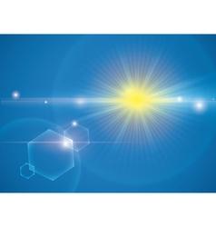 Sun rays design vector