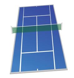 tennis court blue color vector image