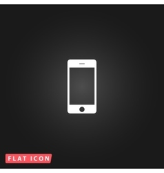 Touch phone flat icon vector