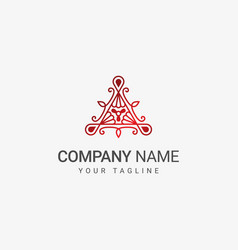 triangle decorative logo vector image