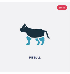 Two color pit bull icon from animals concept vector