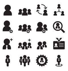 user businessman avatar icons set vector image