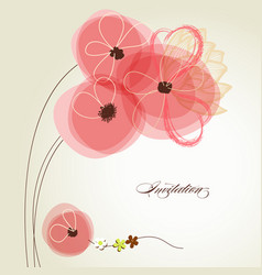valentines day bouquet pink flowers and vector image