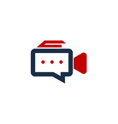 video chat logo icon design vector image