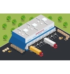 Warehouse equipment Shipping and delivery flat vector image