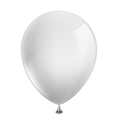 White balloon isolated on background vector